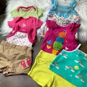 Nine piece Summer Bundle Tops & Shorts